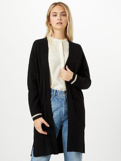 STREET ONE Pletený kabát - čierna / biela, Model/-ka