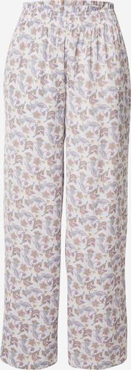 ETAM Pantalon de pyjama 'INTI' en mélange de couleurs / blanc, Vue avec produit