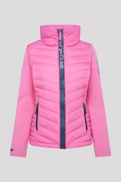 Soccx Jacke im Materialmix mit Kapuze in pink, Produktansicht