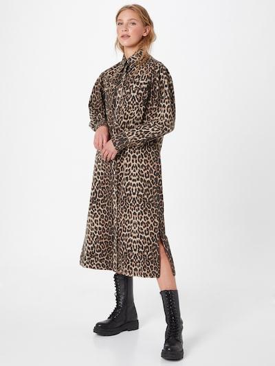 AllSaints Košeľové šaty 'Ezra' - béžová / hnedá / biela, Model/-ka
