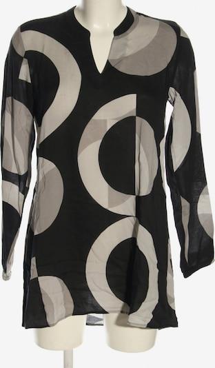 Cartoon Schlupf-Bluse in XS in hellgrau / schwarz / weiß, Produktansicht