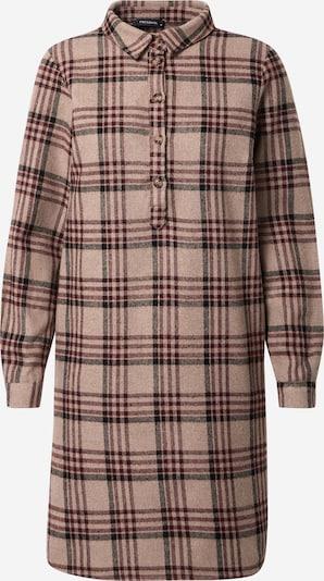 Trendyol Blusenkleid in hellbraun / weinrot / schwarz, Produktansicht