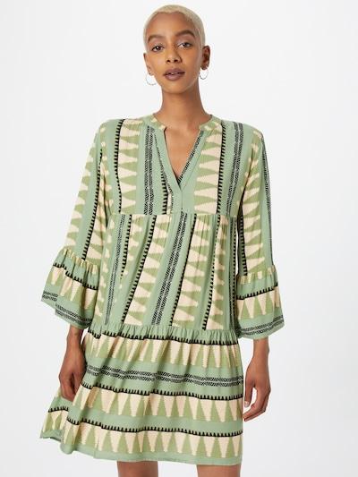 Hailys Šaty 'Lilian' - béžová / zelená / černá, Model/ka