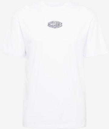 T-Shirt 'WORLDS' JACK & JONES en blanc