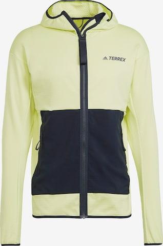 Veste en polaire fonctionnelle adidas Terrex en jaune