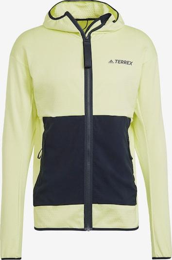 adidas Terrex Athletic Fleece Jacket in Neon yellow / Black, Item view