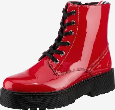 Paul Vesterbro Schnürstiefelette in rot / schwarz, Produktansicht