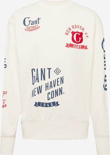 GANT Sweatshirt in Cream / Navy / Light red, Item view