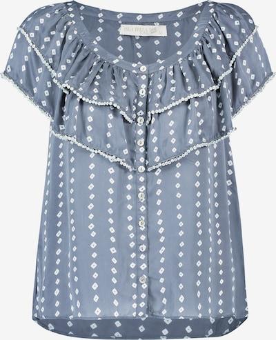 Isla Ibiza Bonita Bluse 'SMALL DIAMONDS' in taubenblau / weiß, Produktansicht