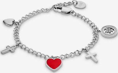 Guido Maria Kretschmer Jewellery Armband in rot / silber, Produktansicht