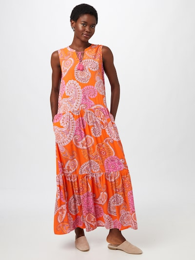 LIEBLINGSSTÜCK Kleid 'Romea' in mandarine / pink / weiß, Modelansicht