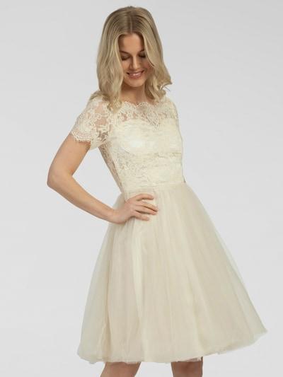 APART Cocktailkleid aus Tüll und Spitze in beige, Modelansicht