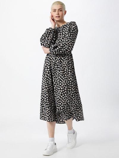 VILA Kleid 'Flouda' in gelb / schwarz / weiß, Modelansicht