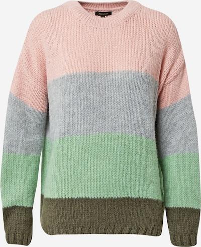 MORE & MORE Pullover in graumeliert / oliv / mint / rosa, Produktansicht