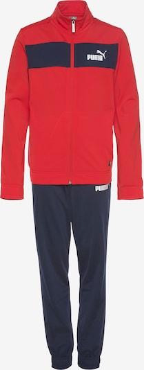 PUMA Jogginganzug in marine / rot, Produktansicht