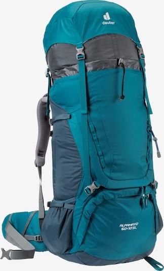 DEUTER Trekkingrucksack 'Alpamayo 60 + 10 SL' in türkis / grau / weiß, Produktansicht