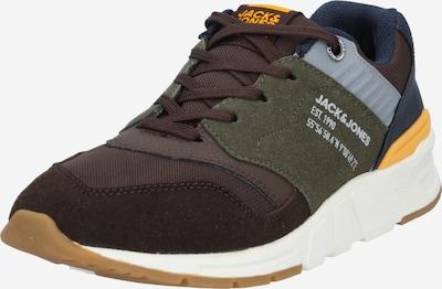 JACK & JONES Sneaker in marine / schoko / dunkelgrau, Produktansicht