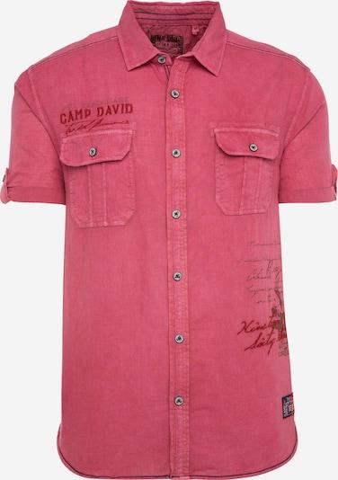 CAMP DAVID Freizeithemd mit Prints und Stickereien in pink, Produktansicht