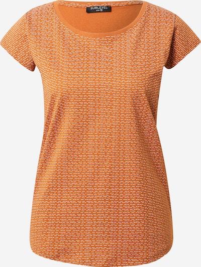 Sublevel Тениска в коняк / бяло, Преглед на продукта
