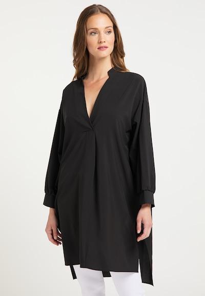 usha WHITE LABEL Longbluse in schwarz, Modelansicht