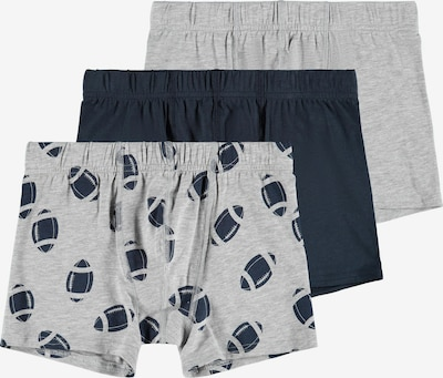 NAME IT Sous-vêtements en bleu marine / gris chiné, Vue avec produit