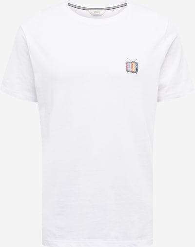 !Solid T-Shirt 'Petro' en mélange de couleurs / blanc, Vue avec produit