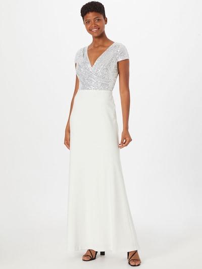 Lauren Ralph Lauren Společenské šaty 'KRYSTAL' - stříbrně šedá / bílá, Model/ka