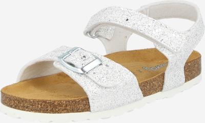 LURCHI Sandales 'ORLY' en argent / blanc, Vue avec produit