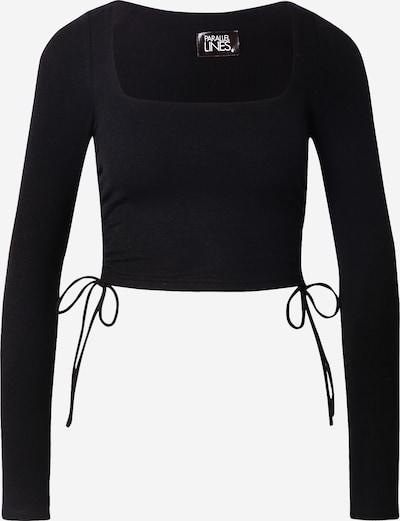Parallel Lines Shirt in schwarz, Produktansicht
