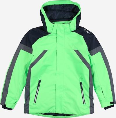 CMP Sportjas in de kleur Grijs / Groen / Zwart, Productweergave
