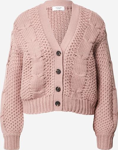JACQUELINE de YONG Strickjacke 'Julia' in rosa: Frontalansicht