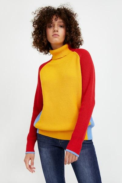 Finn Flare Pullover in gelb / rot, Modelansicht