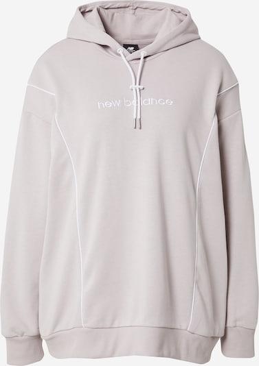 new balance Sweatshirt in de kleur Oudroze / Wit, Productweergave