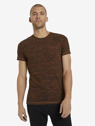 TOM TAILOR Shirt in de kleur Sinaasappel / Zwart: Vooraanzicht