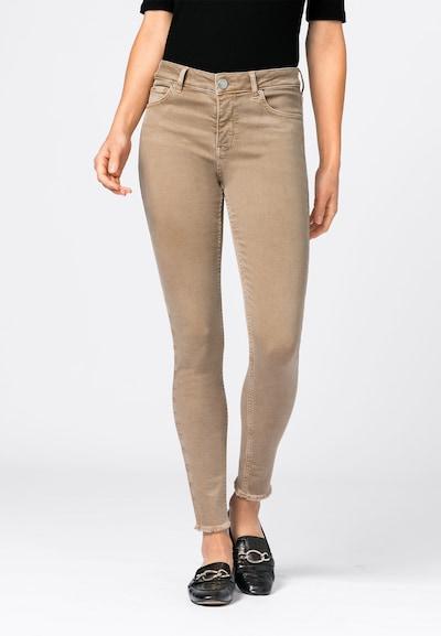 HALLHUBER Jeans 'Mia' in hellbeige, Modelansicht