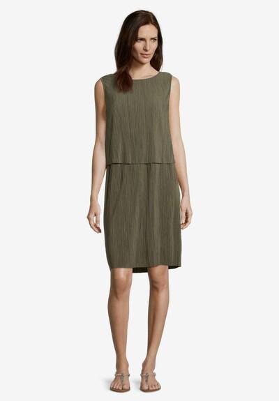 Betty Barclay Plisseekleid ohne Arm in oliv, Modelansicht