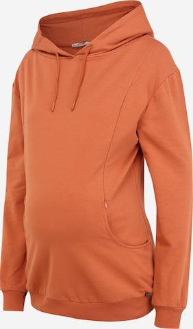 LOVE2WAIT Sweatshirt 'Hoody Nursing Pockets' i brun