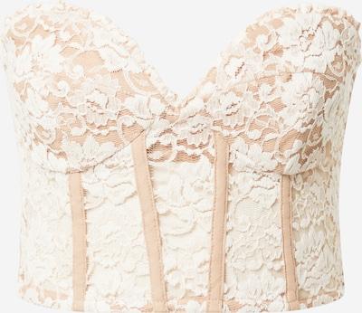 Bardot Top in Cream / Camel, Item view
