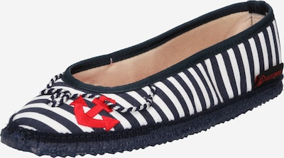 GIESSWEIN Slip-ons 'Lenningen' in Dark blue / Red / White, Item view