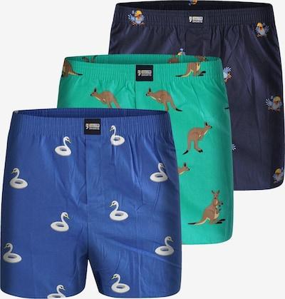 Happy Shorts Boxershorts 'Animals' in blau / türkis, Produktansicht