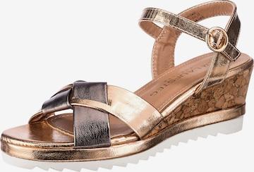 Laufsteg München Sandale in Gold