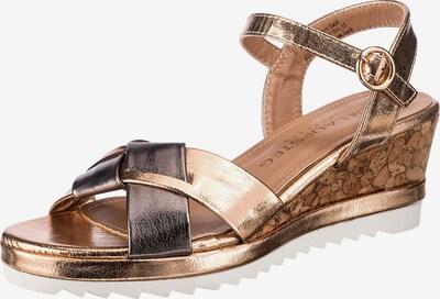 Laufsteg München Sandale in goldgelb / silbergrau, Produktansicht