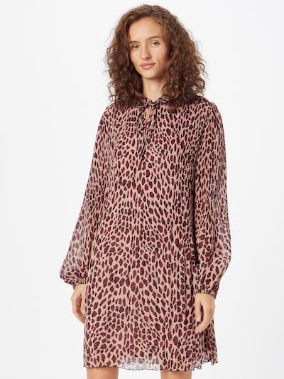 LIU JO JEANS Shirt Dress in Light beige / Dark red / Black, View model
