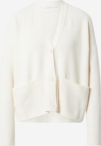 BOSS Casual Strickjacke 'Flaria' in Weiß