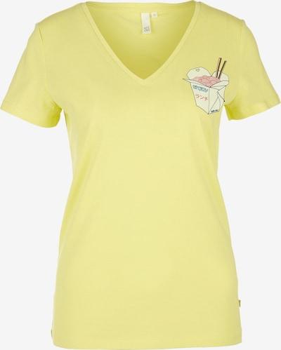 Q/S designed by Shirt in de kleur Geel / Gemengde kleuren, Productweergave