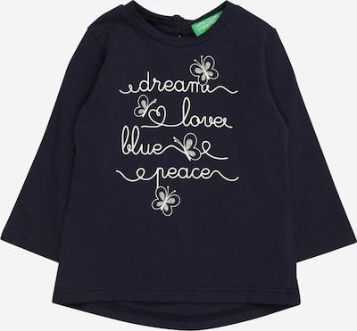 UNITED COLORS OF BENETTON Majica u tamno plava / bijela, Pregled proizvoda