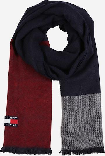 Tommy Jeans Sjaal 'Heritage' in de kleur Donkerblauw / Grijs gemêleerd / Pastelrood, Productweergave