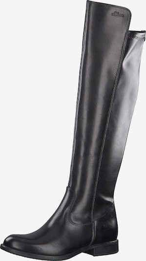 Ilgaauliai batai virš kelių iš s.Oliver , spalva - juoda, Prekių apžvalga