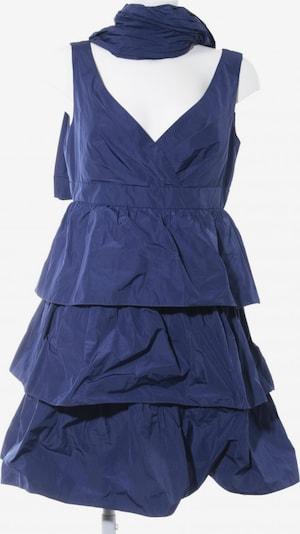 Young Couture by BARBARA SCHWARZER Volantkleid in L in dunkelblau, Produktansicht