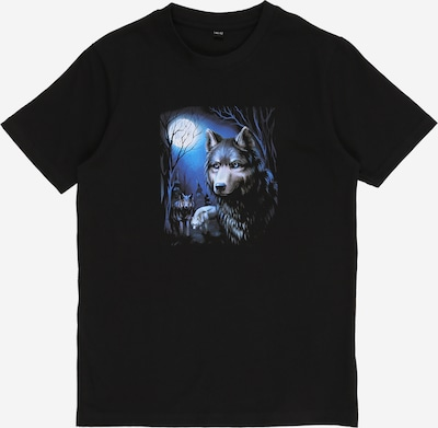 Mister Tee T-Shirt 'Wolf' in nachtblau / dunkelgrau / schwarz, Produktansicht
